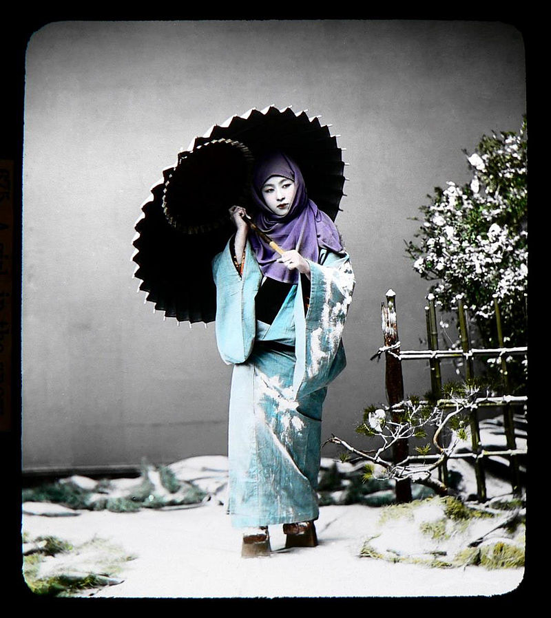 800px-T._Enami_-_Girl_with_Umbrella_in_Snow